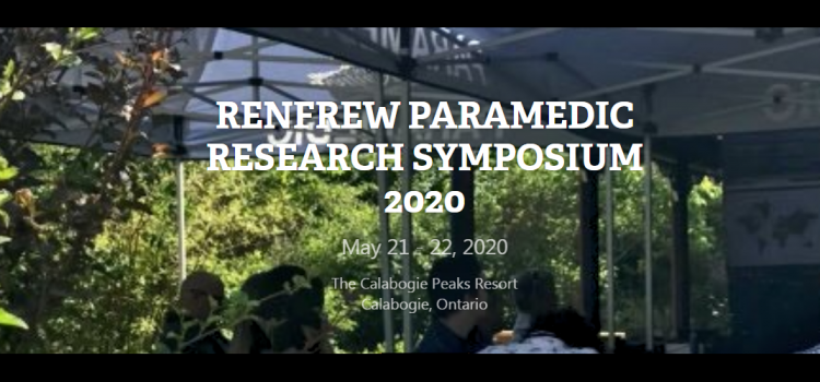 CLOSING SOON: Call for abstracts: County of Renfrew Paramedic Research Symposium