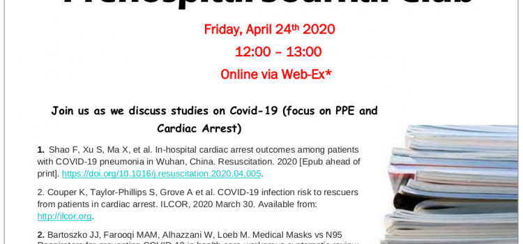 Prehospital Journal Club – April 24th 2020