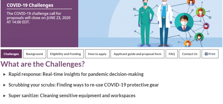 Innovation for Defence Excellence and Security (IDEaS) Program: COVID-19 Challenges call for proposals
